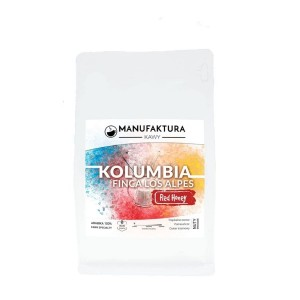 Manufaktura Kawy Kolumbia Finca Los Alpes Red Honey filtr  250g kawa ziarnista Speciality do przelewu