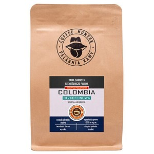 Coffee Hunter Colombia Bezkofeinowa 1kg kawa ziarnista do ekspresu ciśnieniowego