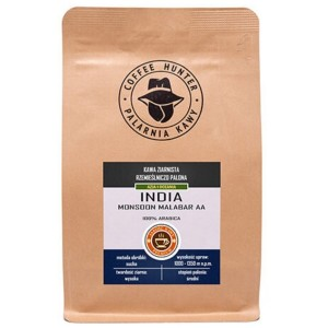 Coffee Hunter India Monsoon Malabar 1kg kawa ziarnista do ekspresu ciśnieniowego