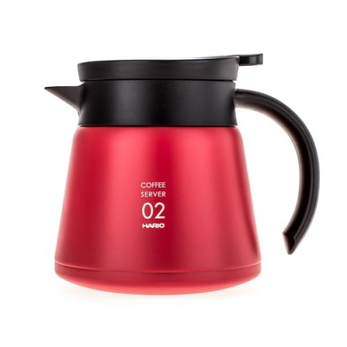 CoffeeLove - Hario Insulated Stainless Steel Server V60-02 czerwony